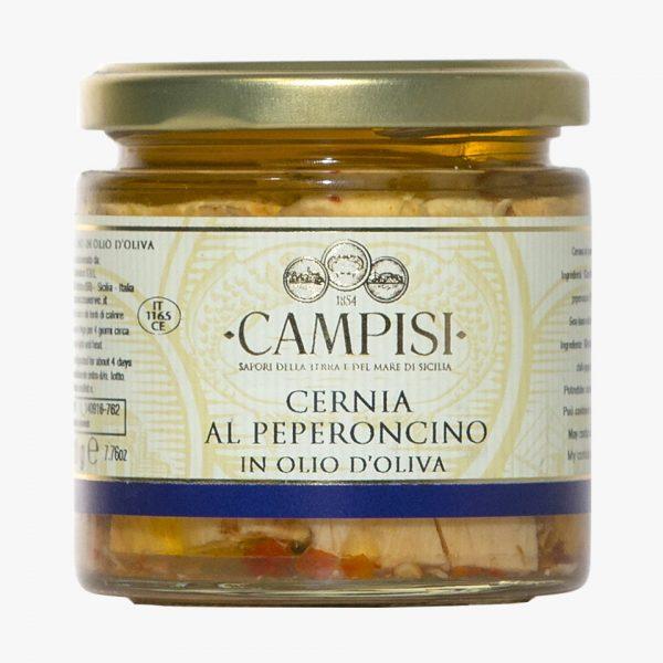 Campisi Cernia al Peperoncino in olio di oliva