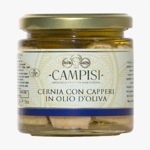 Campisi Cernia con capperi in olio di oliva